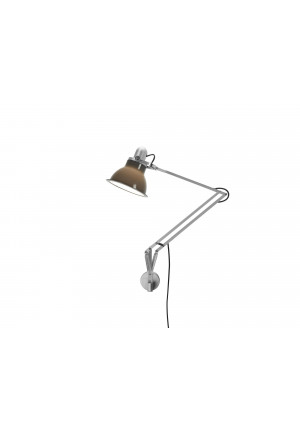 Anglepoise Type 1228 Lamp with Wall Bracket grey switched on