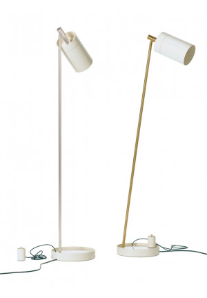 Anta Nobu foot and shade white, body chrome and Nobu foot and shade white, body brass
