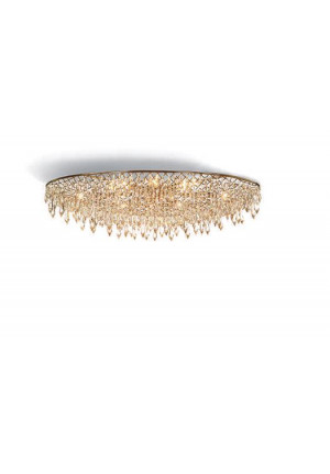 Anthologie Quartett Crystal Rain Ceiling Lamp oval diameter 120 cm