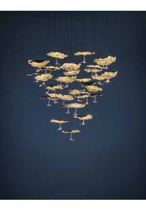 Catellani & Smith Gold Moon Chandelier