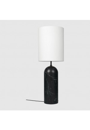 GUBI Gravity Floor Lamp XL High version 3, shade white, base marble black