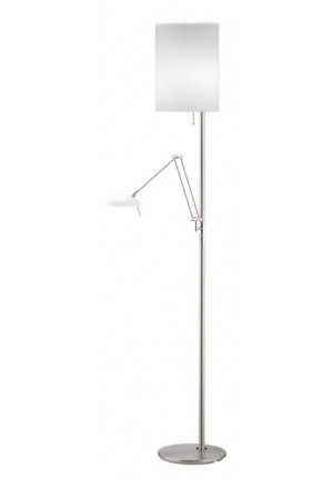 Knapstein KIRA-L-Halogen nickel-chrome, diffuser glass white