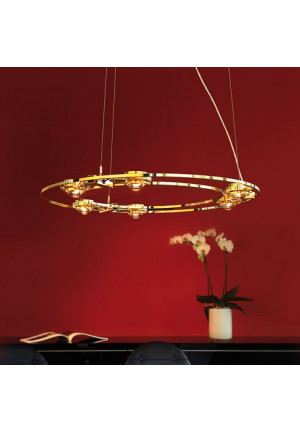 Licht im Raum Ocular 800 Low-Voltage Natural Brass