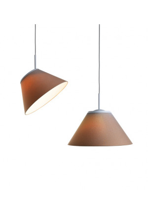 Luceplan Cappuccina Suspension brown/pluie
