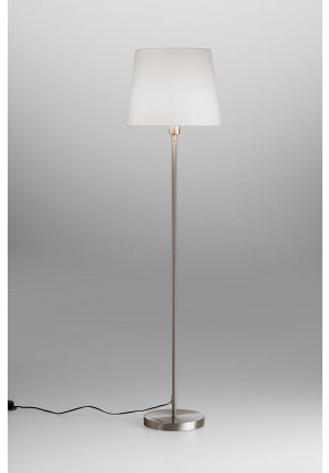 Lupia Licht Garde lamp rod nickel lampshade white
