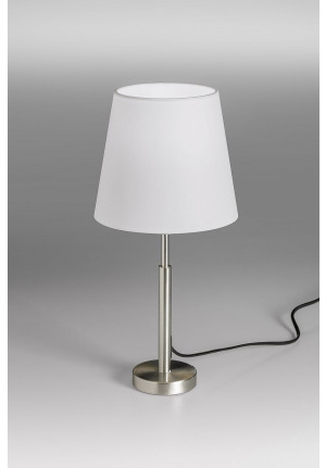 Lupia Licht Garde S lamp rod nickel lampshade white