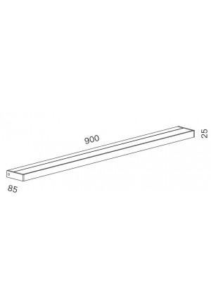 Serien Lighting SML2 Wall 900 Silver