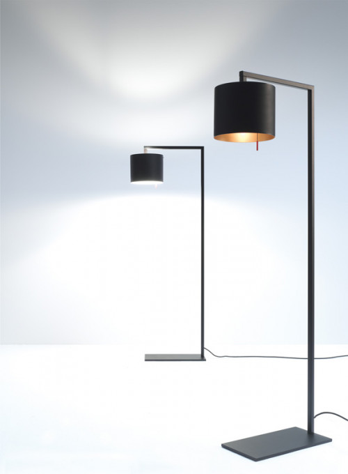 Anta Afra Floor Lamp black inside gold right
