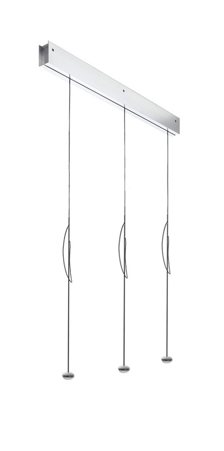 Anta Ny rail alu with 3 lamps alu with height-adjustability