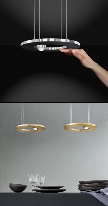 Cini & Nils Passepartout 25 black with sensor dimmer (above); gold (below)