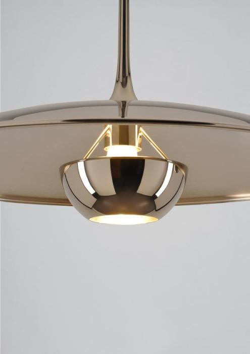 Florian Schulz Onos 55 Side Pull shade brass polished lacquered