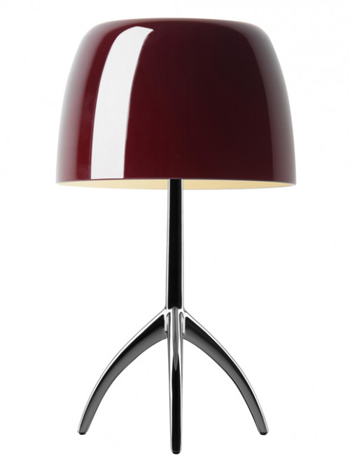 Foscarini Lumiere 05 Piccola cherryred frame chrome black off switched