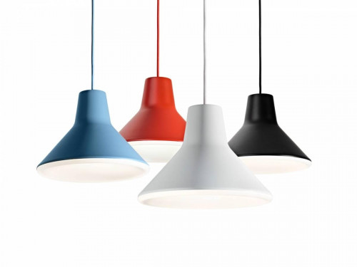 Luceplan Archetype blue, red, white and black