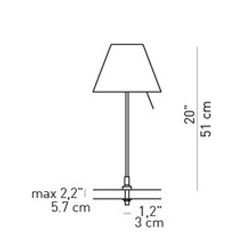 Luceplan Costanzina Table fixing pin graphic