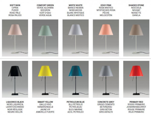 Luceplan Costanzina Table shade colours