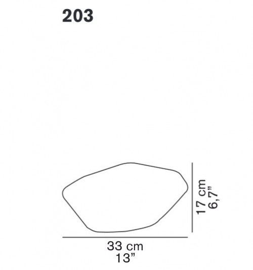 Oluce Stone of Glass 203 spare part