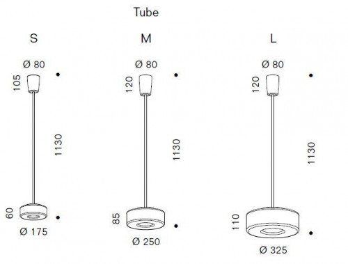 Serien Lighting Curling Suspension Tube LED clear graphic