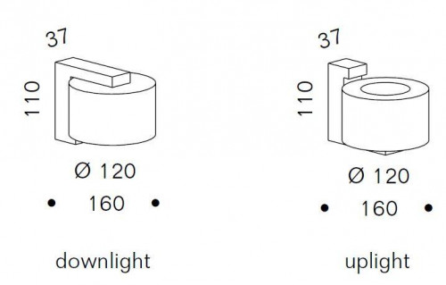 Serien Lighting Mirror Adapter Set for Reef Wall Halogen and LED