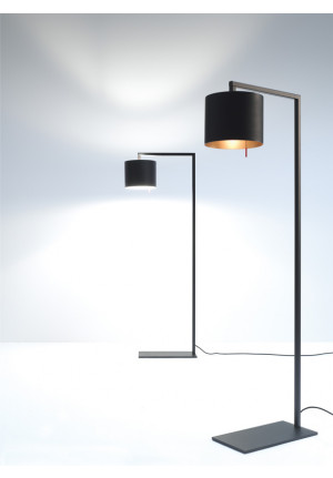 Anta Afra Floor Lamp black inside silver
