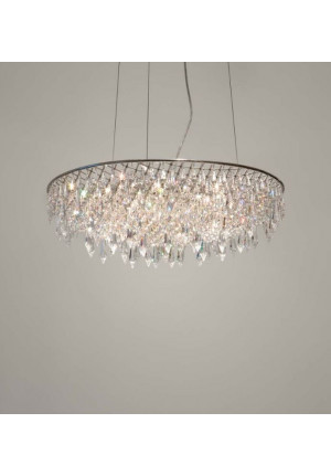 Anthologie Quartett Crystal Rain Pending Lamp oval diameter 60 cm
