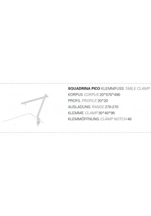 Byok Squadrina Pico Table Clamp graphic
