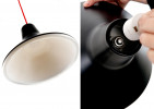 Luceplan Archetype black and screwing the lampshade on the socket