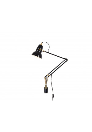 Anglepoise Original 1227 Brass Lamp with Wall Bracket black
