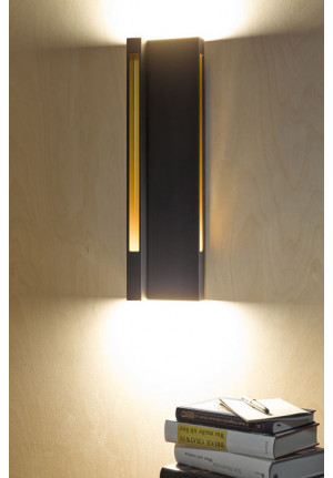 Anta Vorn Wall Lamp with gold reflectors at the right