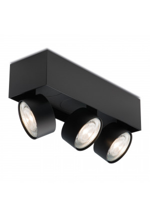 Mawa Wittenberg 4.0 ceiling lamp semi-flush 3-lights LED black