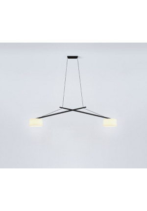 Serien Lighting Twin arms black lacquered mouth-blown glass