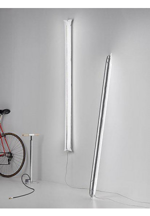 Ingo Maurer Blow Me Up by power plug 180 cm silver