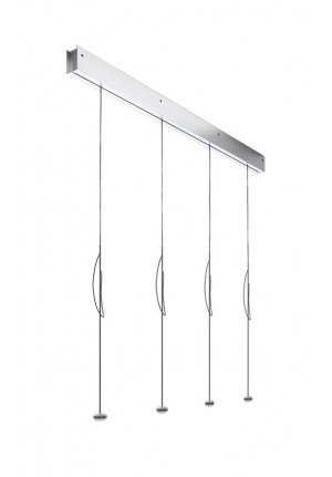 Anta Ny rail alu with 4 lamps alu with height-adjustability