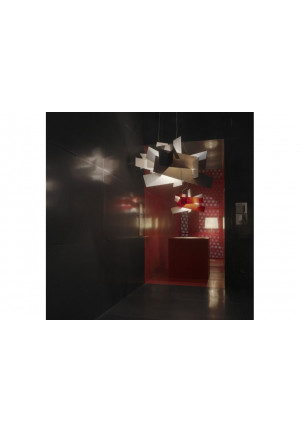 Foscarini Big Bang Sospensione white and red