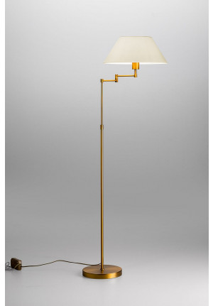 Lupia Licht Bridge lamp rod brass lampshade champagne
