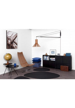Secto Design Varsi 1000 black with Puncto 4203 walnut