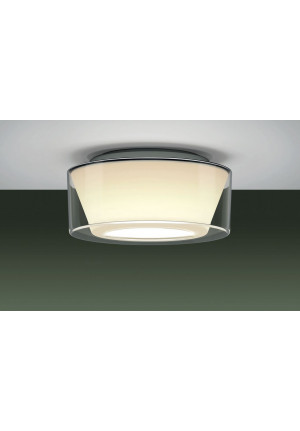 Serien Lighting Curling Ceiling Acryl clear / conical opal M
