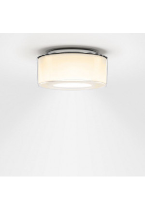 Serien Lighting Curling Ceiling Acryl clear / cylindrical opal S