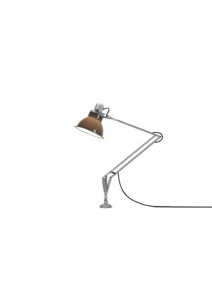 Anglepoise Type 1228 Lamp with Desk Insert white switched on
