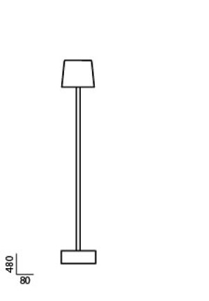 Anta Cut table lamp black spare part