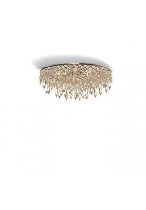 Anthologie Quartett Crystal Rain Ceiling Lamp round diameter 120 cm