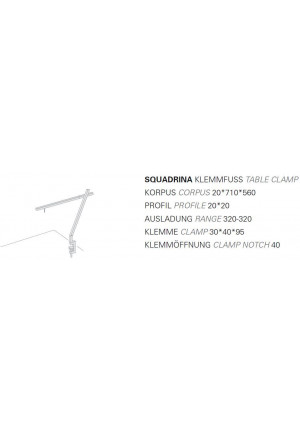 Byok Squadrina Table Clamp graphic
