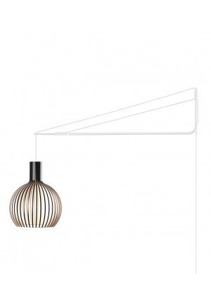 Secto Design Varsi 1000 black with Octo Small 4241 birch
